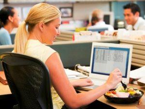 офисный работник и его диета