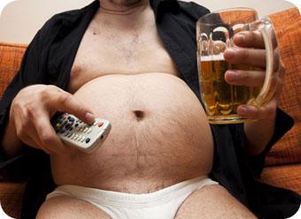 пивной живот у мужчины